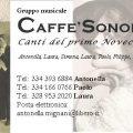 CaffèSonoro biglietto da visita