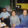 Studio con Joseph Fargier regitrazione brano zingaro cantato con Lucio Dalla 2000
